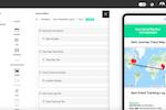 Qliktag Platform screenshot: Qliktag Platform layout editor