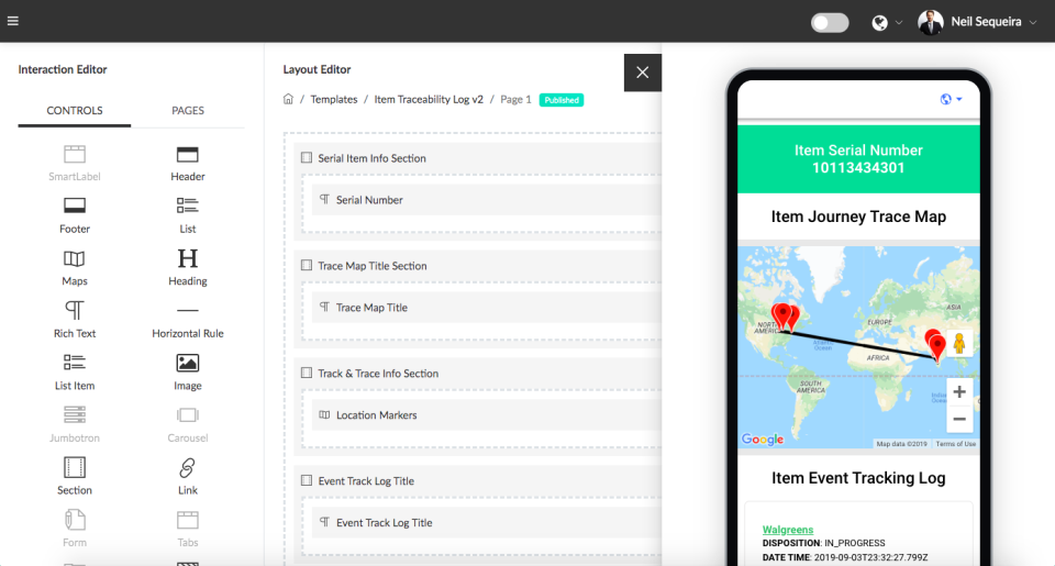 Qliktag Platform layout editor