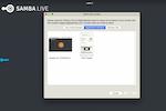 OnSync screenshot: Samba Live screen sharing