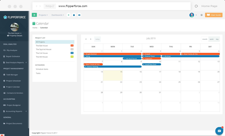 FlipperForce calendar screenshot