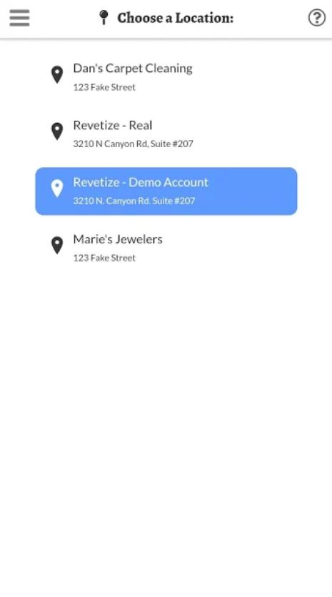Revetize location options