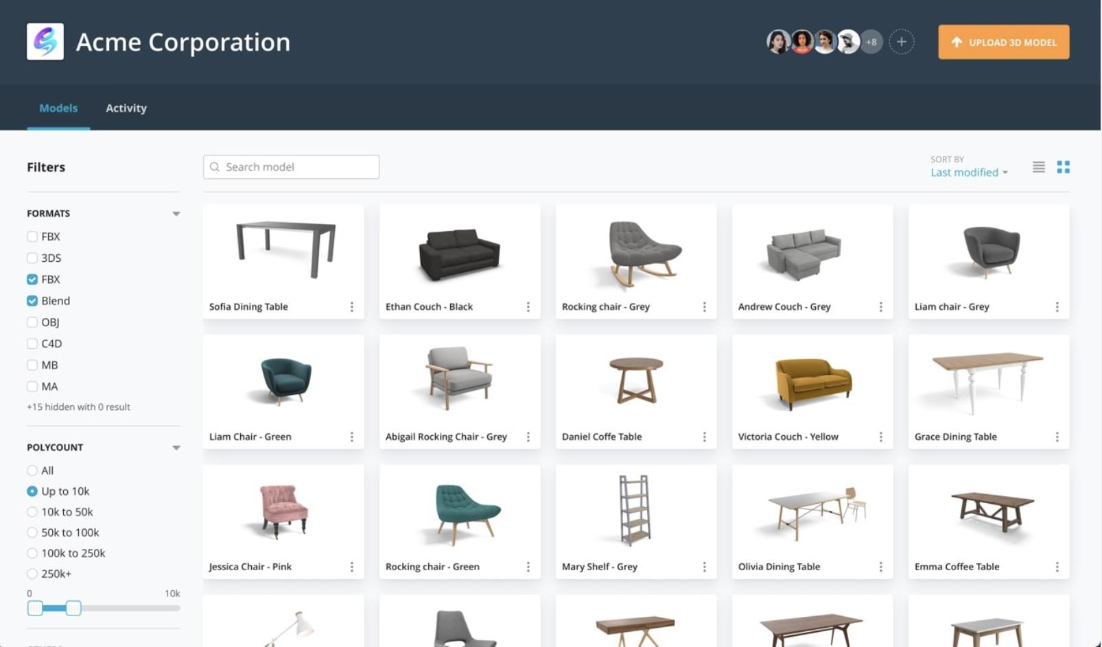 Sketchfab 3D asset models