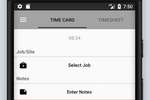 Timeero screenshot: Employees can record their location and time using the mobile app