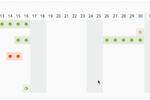 LeaveBoard screenshot: Availability and booked leave is updated in the calendar in real-time