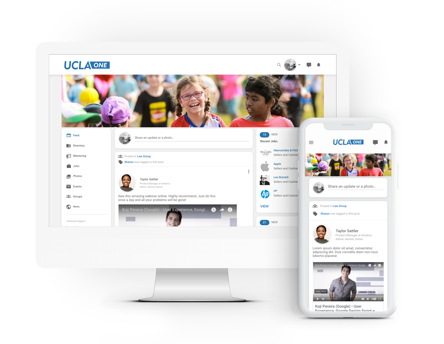 An interactive, personalized feed, designed with the user in mind. Engage your alumni with automated widgets for mentoring matches, suggested connections, donation requests and more.