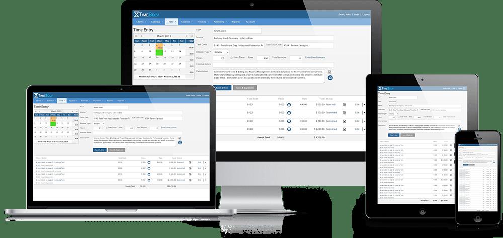 TimeSolv Legal Billing Software - TimeSolv multiple devices screenshot