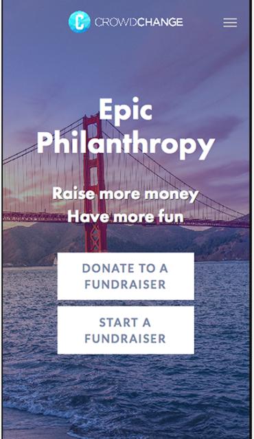 CrowdChange donate or start a fundraiser