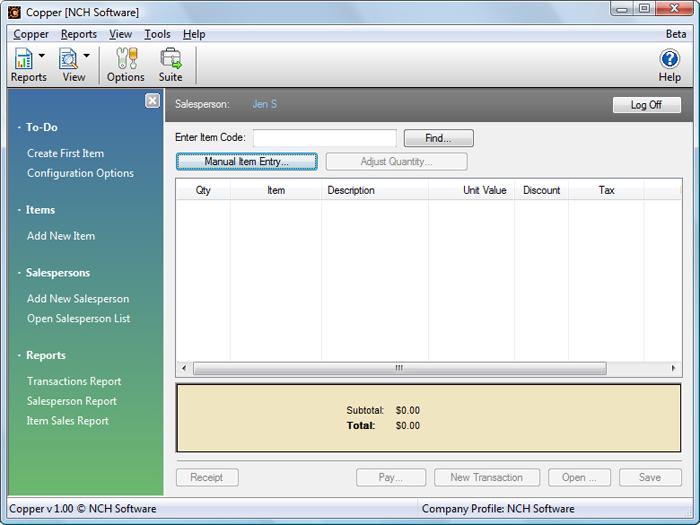 Copper POS Software - 1