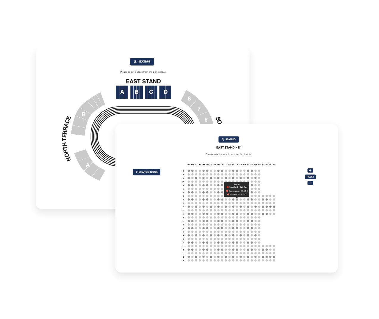 Seatedly's interactive seat mapping