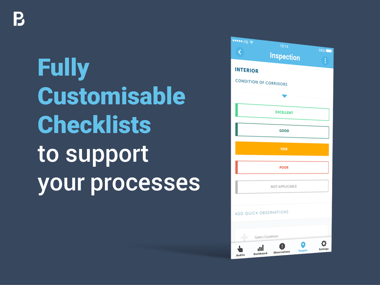 Ditch printouts and heavy Excel spreadsheets. Use our existing templates or import your own checklists into the system to immediately start cutting time from your audits and inspections.