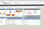 RingCentral Contact Center screenshot: Up-to-the-minute information via easily customizable dashboards