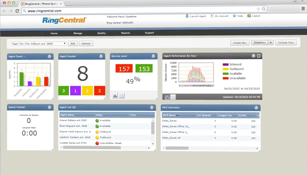 Up-to-the-minute information via easily customizable dashboards