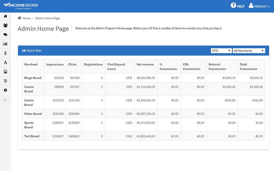 Income Access screenshot