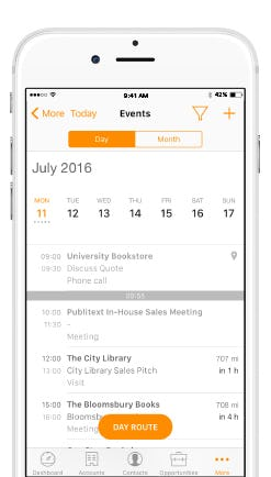 ForceManager Software - Events