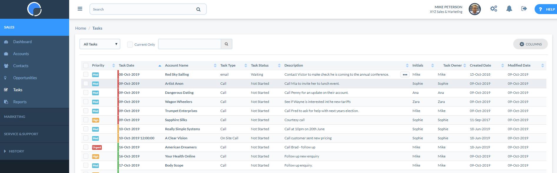 Task List Page