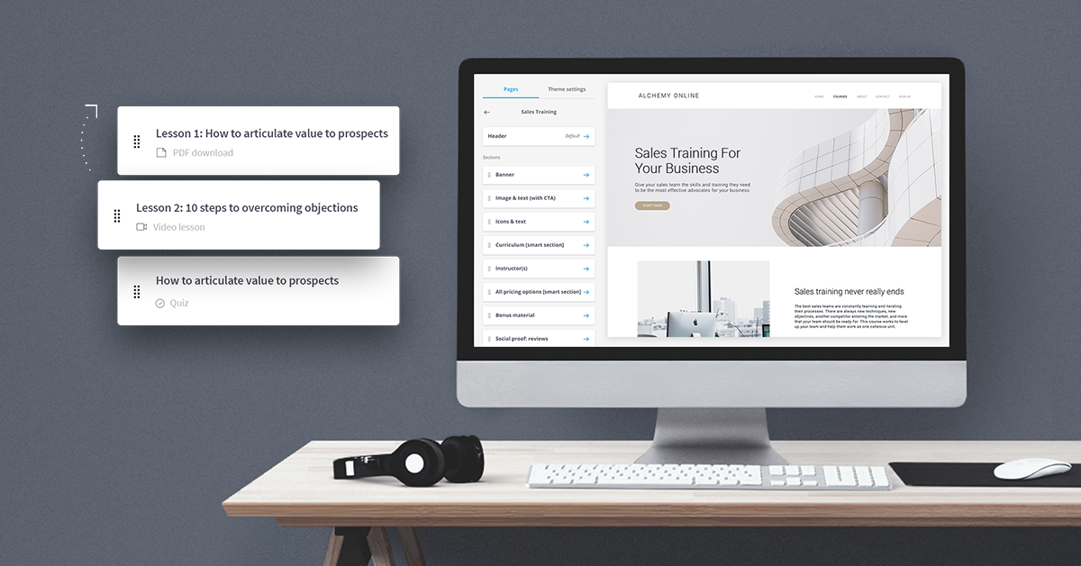 Easily create and customize courses to match your brand