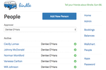 Bindle screenshot: In Bindle, each employee can be assigned an approver who reviews their requests for time-off
