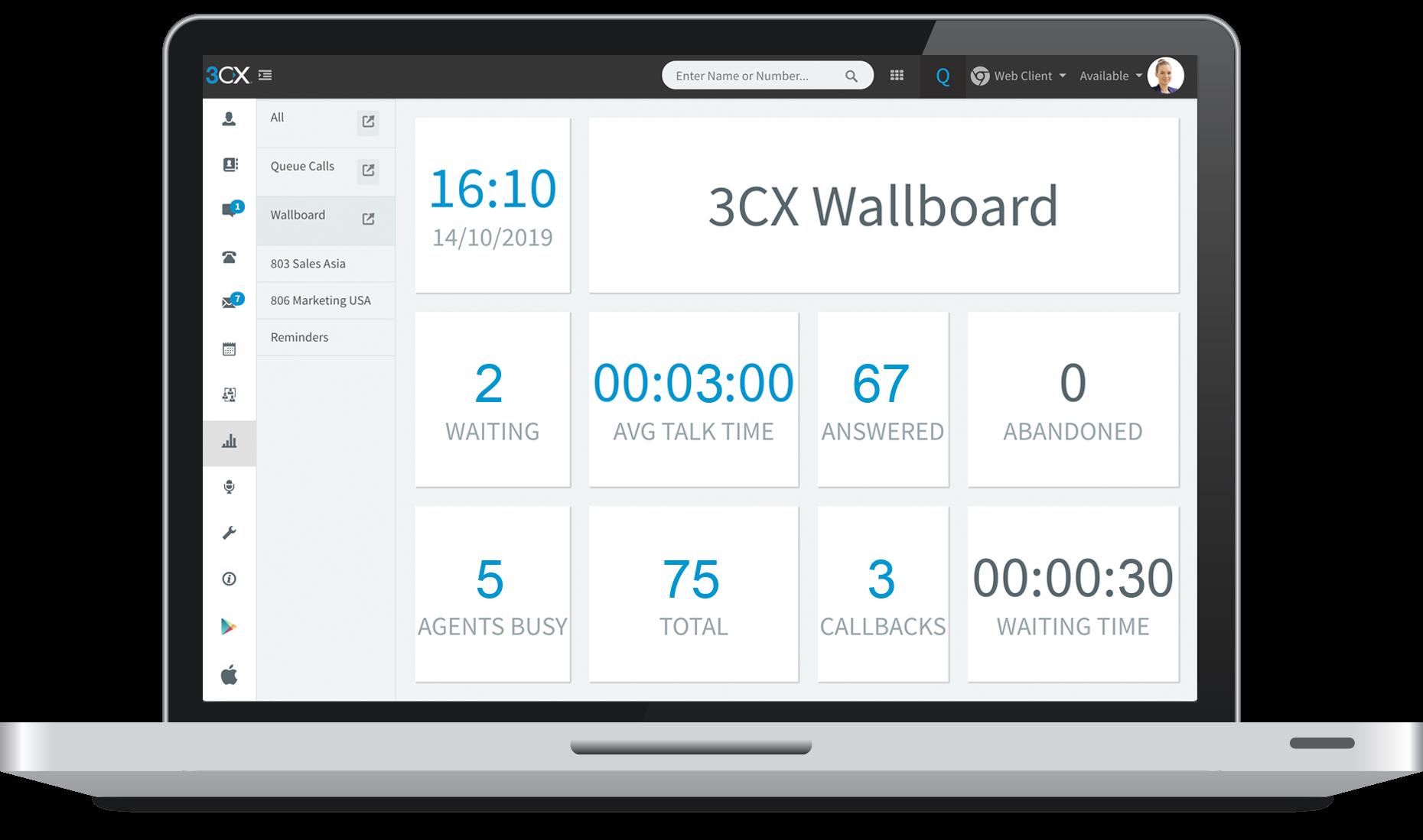 3CX Software - 3CX wallboard