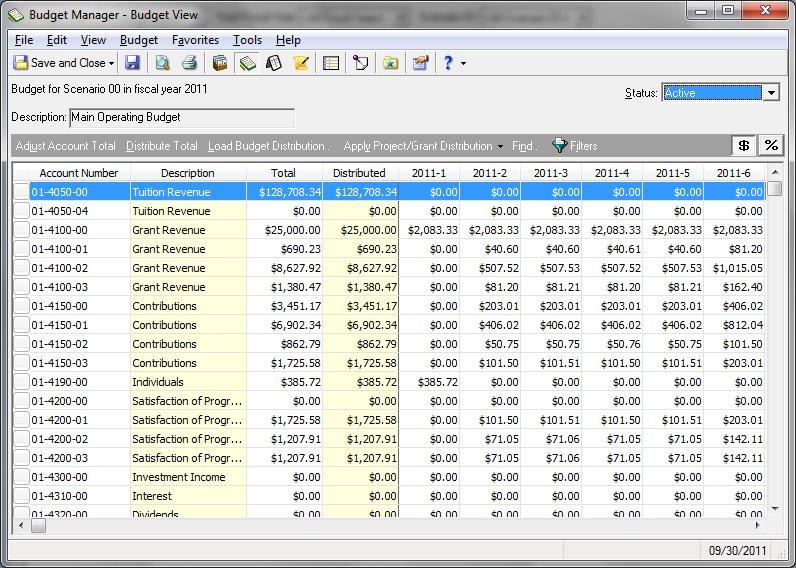 Blackbaud Raiser's Edge NXT Software - Budgeting tools