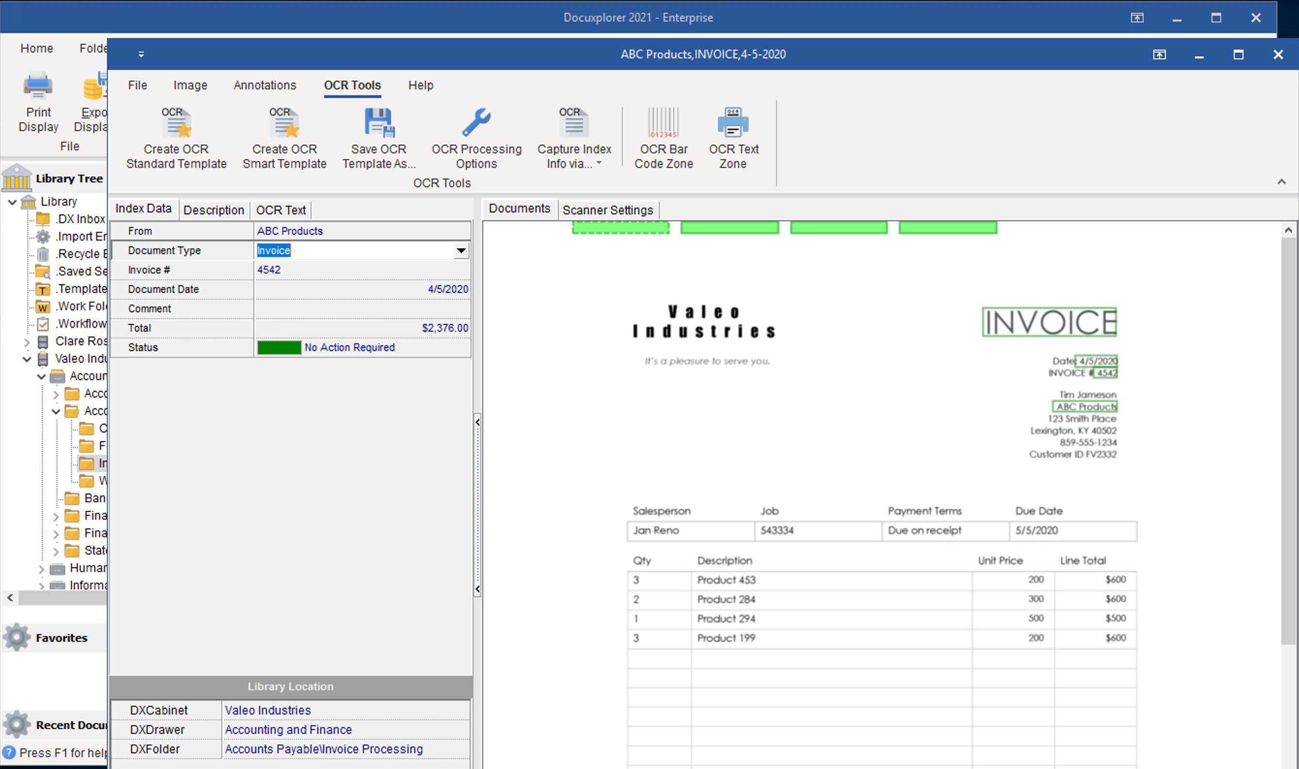 DocuXplorer Software - 3
