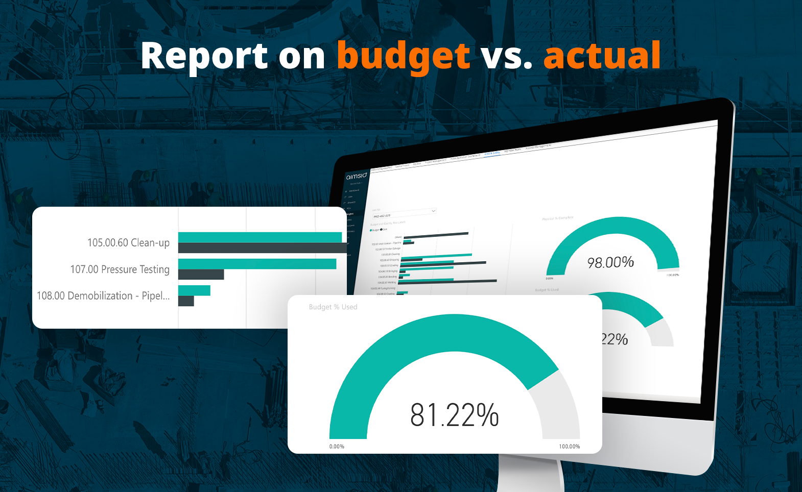 Aimsio is more than a field ticketing platform - it's also a reporting system. Use the reports to keep track of budget vs. actual to be proactive.
