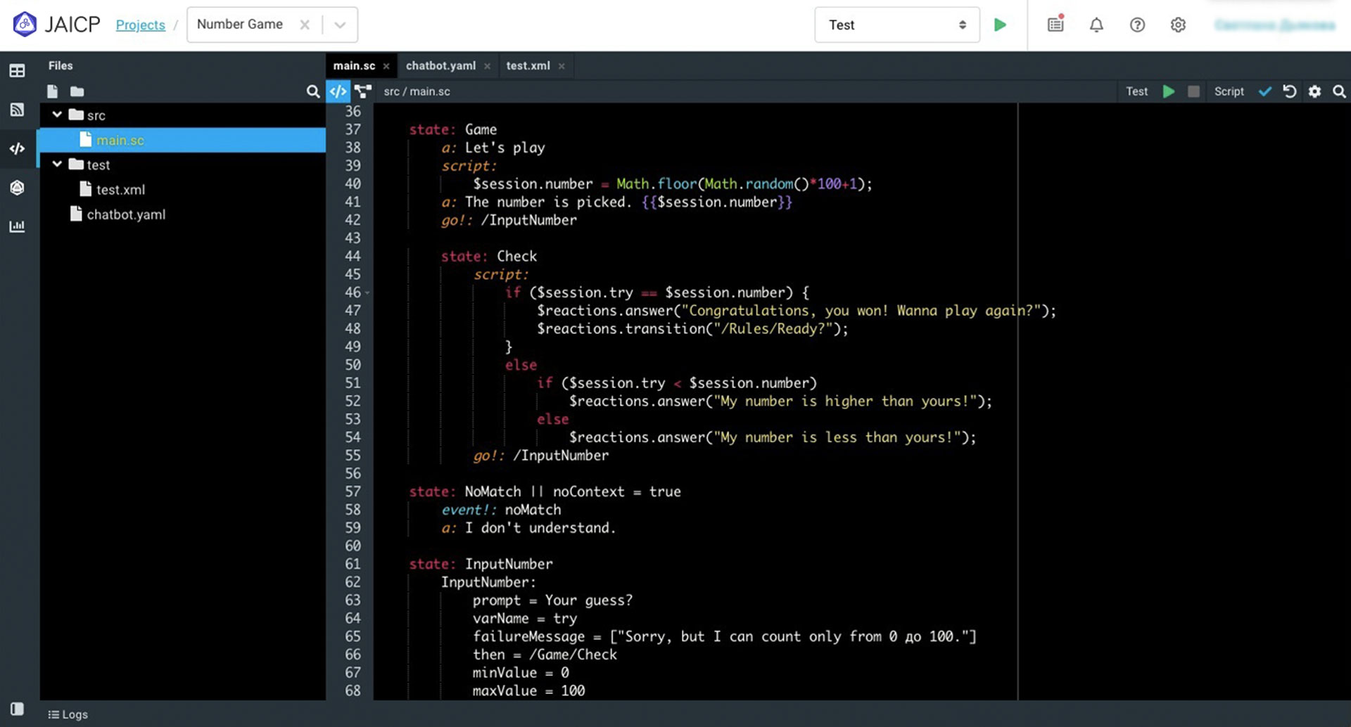 Use your Kotlin and JavaScript skills to create conversational projects of any complexity