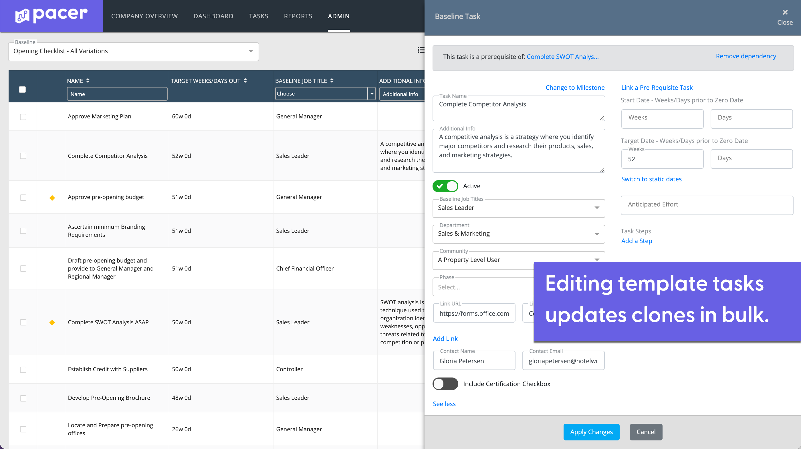 React to Learning - Pacer is all about making your multi-location business more efficient by eliminating redundancy and versions, boosting productivity, saving administrators and team managers costly time and expense.