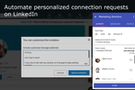 Captura de pantalla de InTouch Tool: LinkedIn auto connect - automate connection requests on LinkedIn. Personalize your automated LinkedIn connections to achieve a high connection rate in your lead generation and prospecting campaigns.