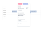 Workpath screenshot: Calendar-based appointment scheduling provides visibility into which team member is assigned and then currently servicing each appointment