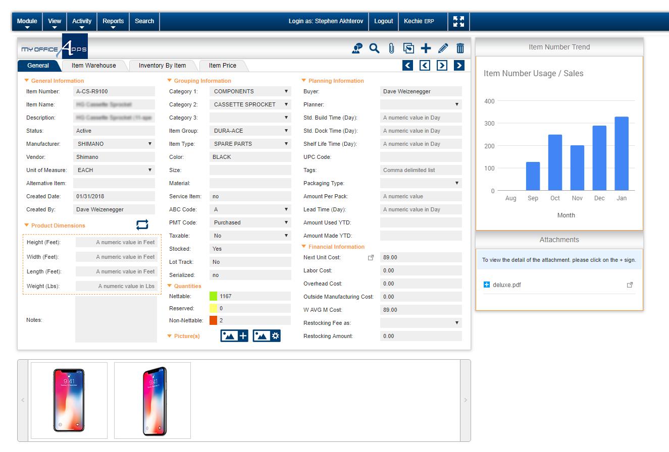 Kechie Software - Inventory Item Detail