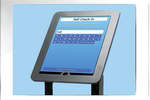 Maxident screenshot: Allow patients to check themselves in upon arrival with MaxiCheckin, Maxident's patient self check-in kiosk