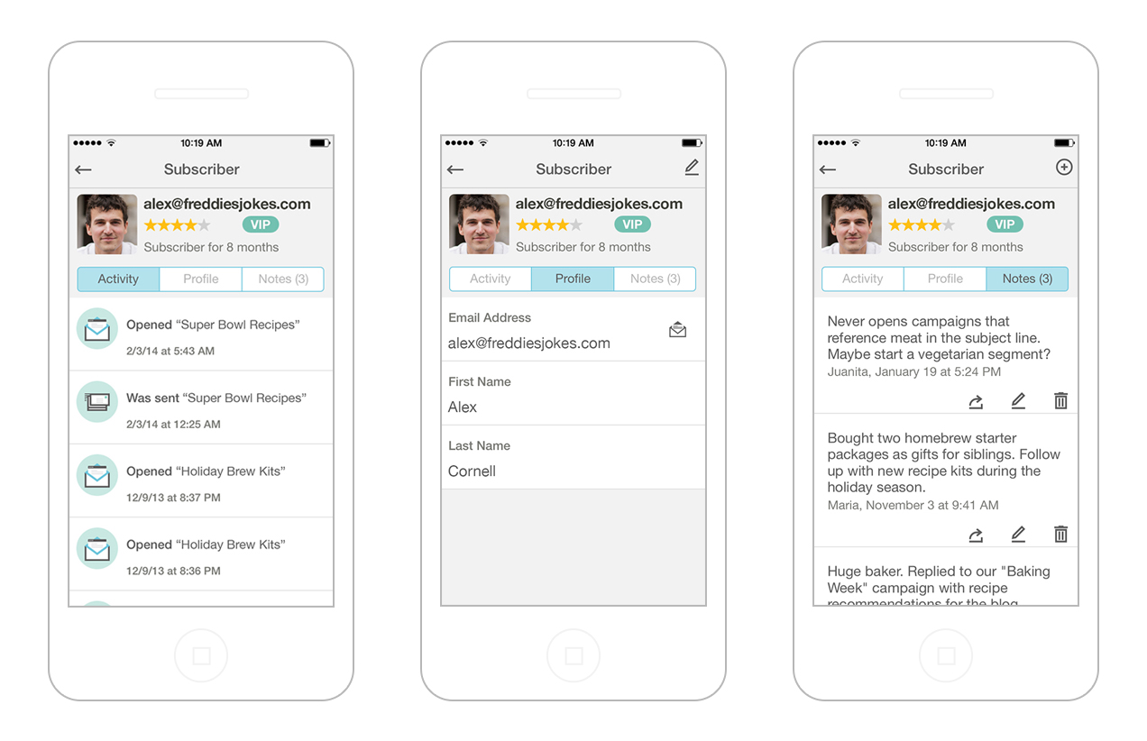MailChimp mobile app