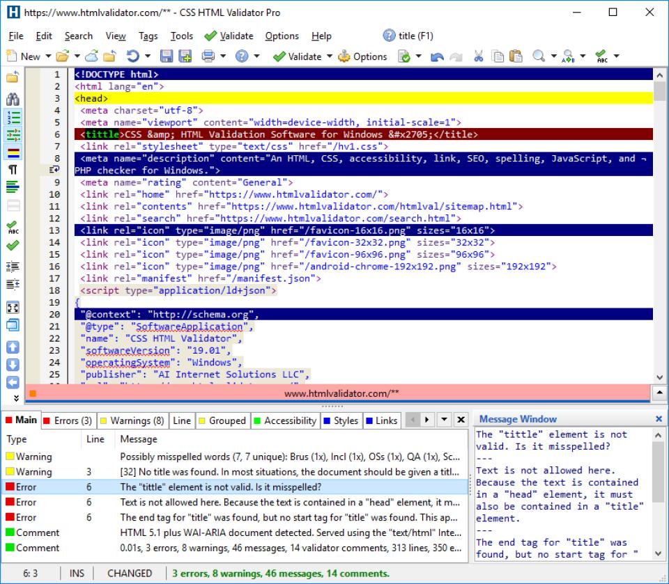 CSS HTML Validator Software - 1