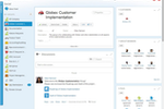 Clarizen screenshot: Supports social collaboration with searchable, online discussion boards