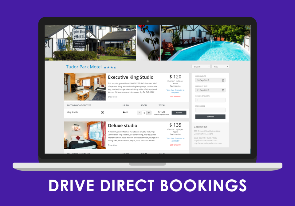 Accept direct bookings through ConvertDirect Booking Engine