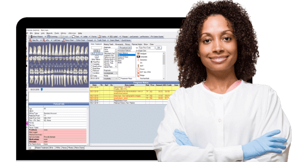 Create detailed records faster with Auto Notes and Quick Notes, see conditions on the graphical tooth chart, effortlessly home in on the info you need, manage lab cases, in the Chart Module.