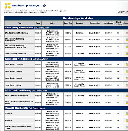 eSoft Planner membership manager