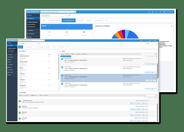 DealerCenter Software - DealerCenter dashboard and reporting screenshot