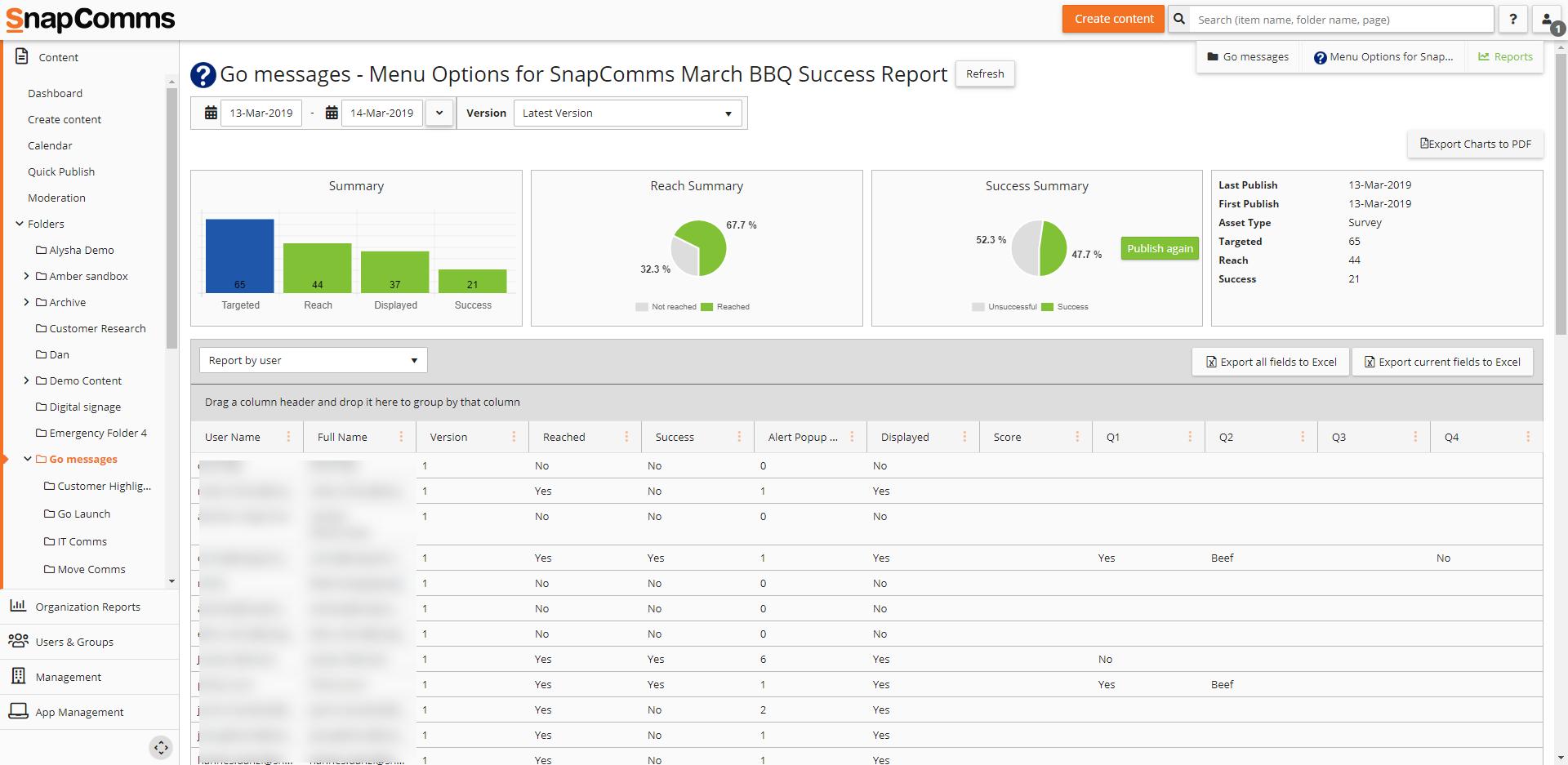 SnapComms success report