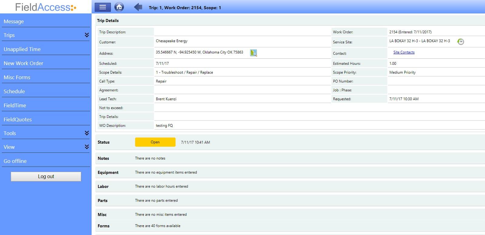 FieldConnect Software - Mobile Work Order Management