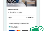 SiteMinder Screenshot: Mobile-first - capture every opportunity on-the-go with a seamless and secure 3-step guest booking experience in the palm of their hands.