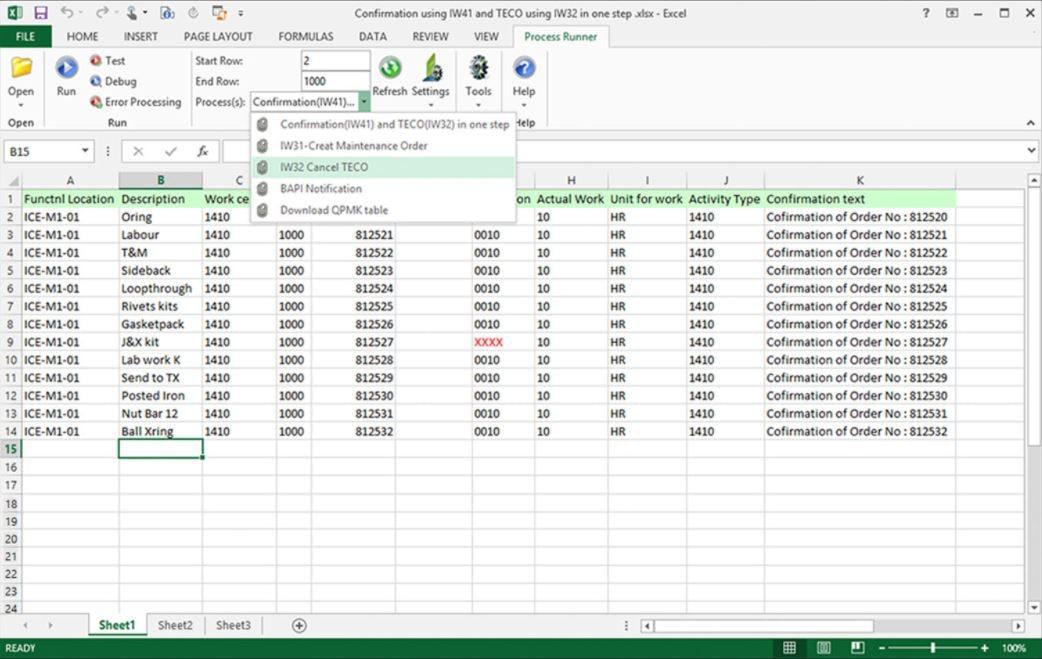 Process Runner data processing
