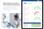 Captura de pantalla de Weever Forms: Get answers in real-time with automated reporting.  Your data is readily available within Weever as data tables. The data is also automatically pushed to Microsoft Power BI for you to incorporate into existing reports or generate new ones using our templa