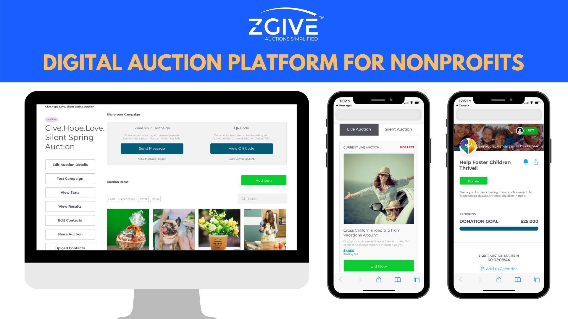 ZGIVE Digital Auction Platform