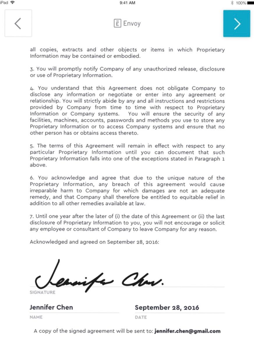 Envoy Document signing