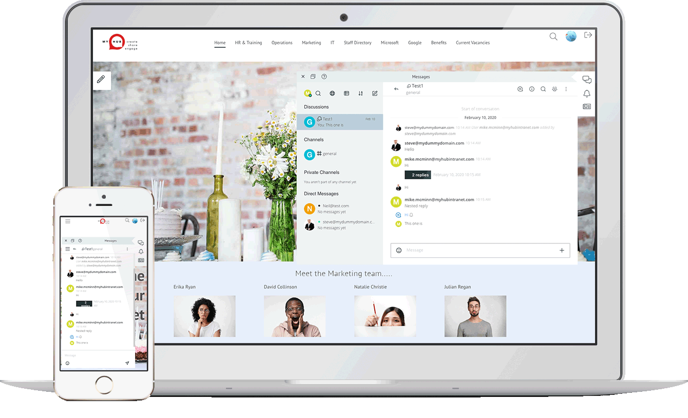 Enjoy the benefits of real-time chat features, with private or group instant messaging.