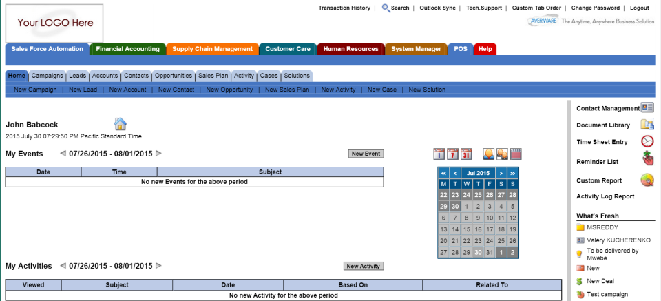 Averiware Software - Manage Sales