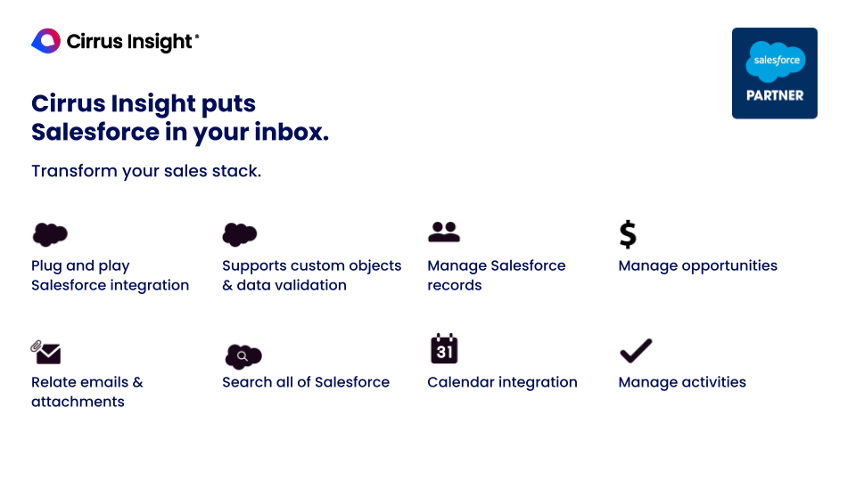 Cirrus Insight Software - Cirrus Insight puts Salesforce in your inbox.
