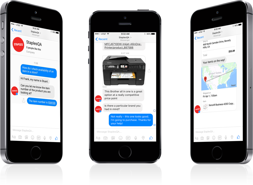 INSIDE can be integrated with Facebook Messenger to reach clients across more platforms