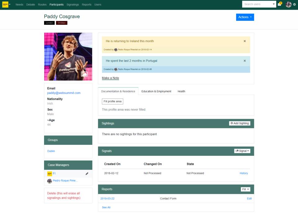 AidHound participant profile